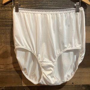 Vintage Nylon High Waist Granny Panties NWOT Sz 10